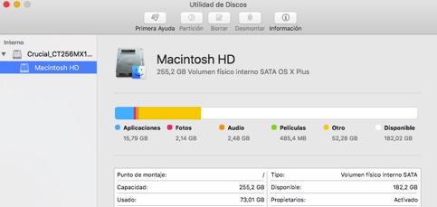 Estos son los formatos de disco duro a elegir en Mac OS X