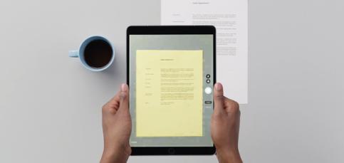 Escanea documentos en el iPad sin instalar nada