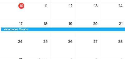 Importa las fechas de tus vacaciones en el calendario de Mac