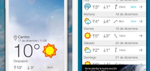 Las 5 mejores apps del tiempo para iphone blog k tuin for Aplicacion del clima