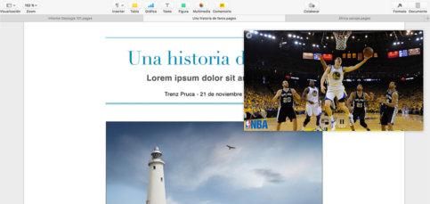 Picture in picture en Mac: Vídeos en segundo plano